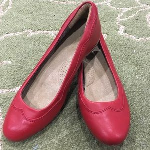 Ariat Red Leather Audrey Ballet Flats in Size 6
